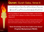 quran surah saba verse 6