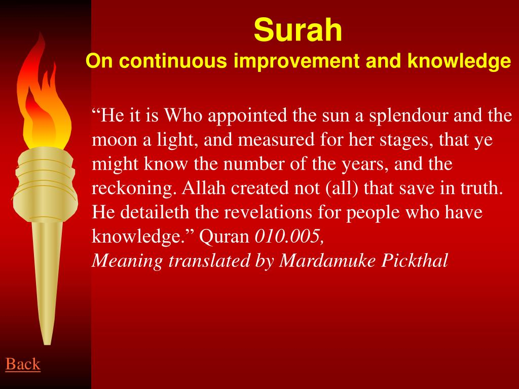 """He it is Who appointed the sun a splendour and the moon a light, and measured for her stages, that ye might know the number of the years, and the reckoning. Allah created not (all) that save in truth. He detaileth the revelations for people who have knowledge."" Quran"