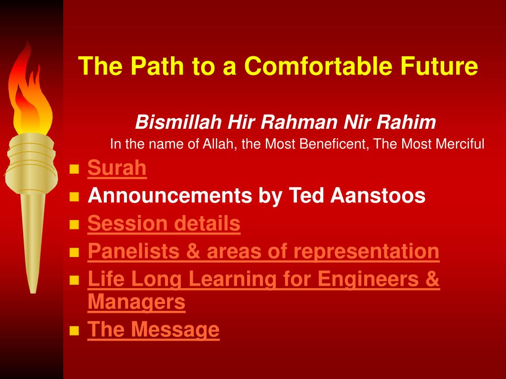 The Path to a Comfortable Future
