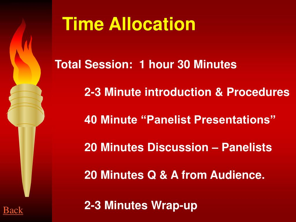 Time Allocation