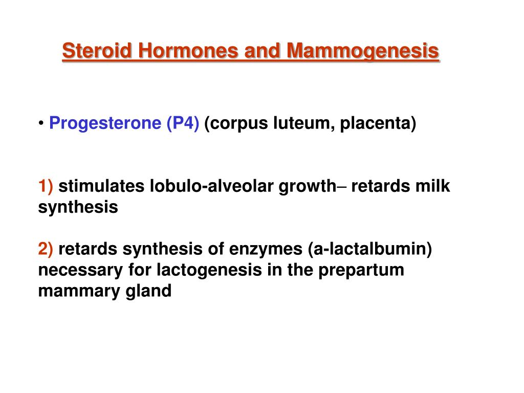 Steroid Hormones and Mammogenesis