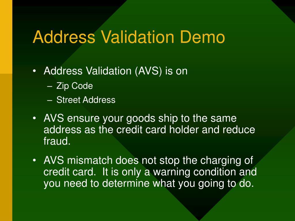 Address Validation Demo