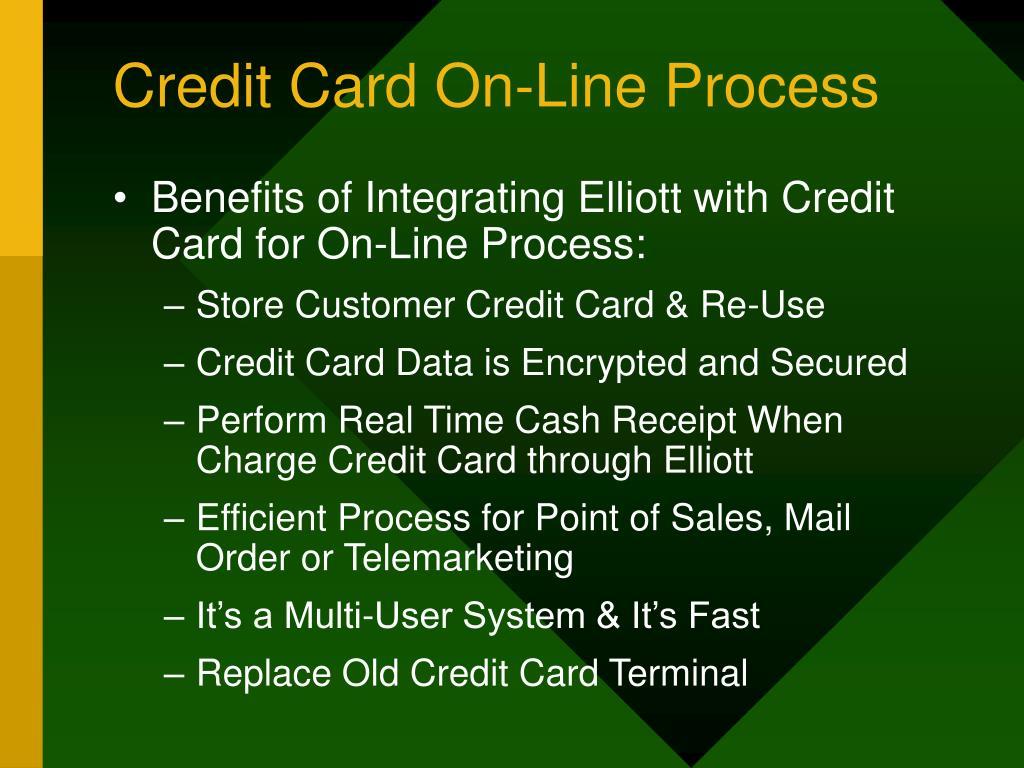 Credit Card On-Line Process