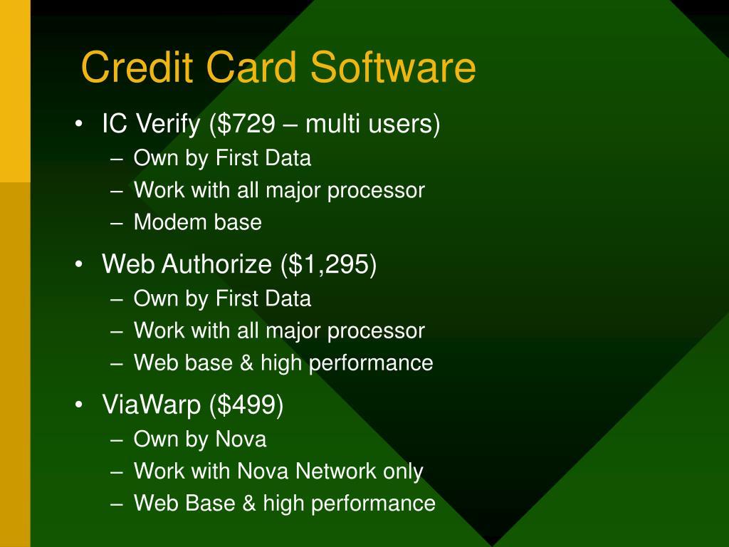 Credit Card Software