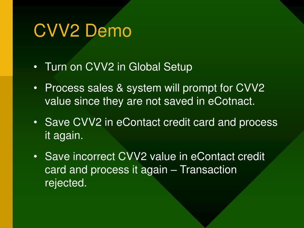 CVV2 Demo