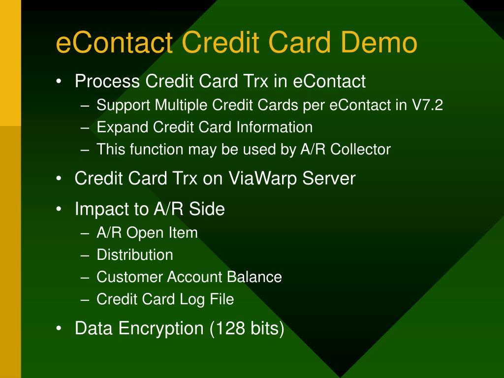 eContact Credit Card Demo