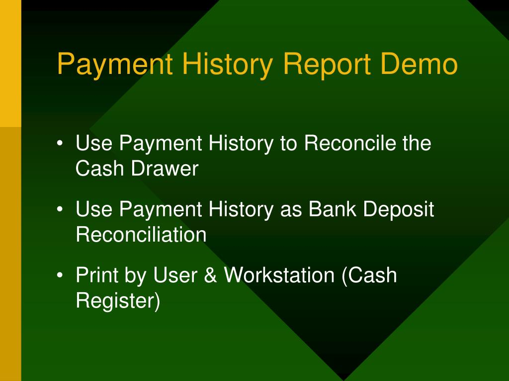 Payment History Report Demo