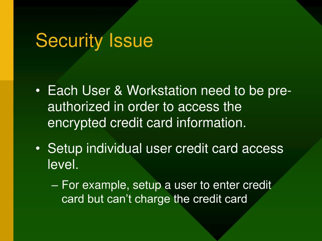 Security Issue
