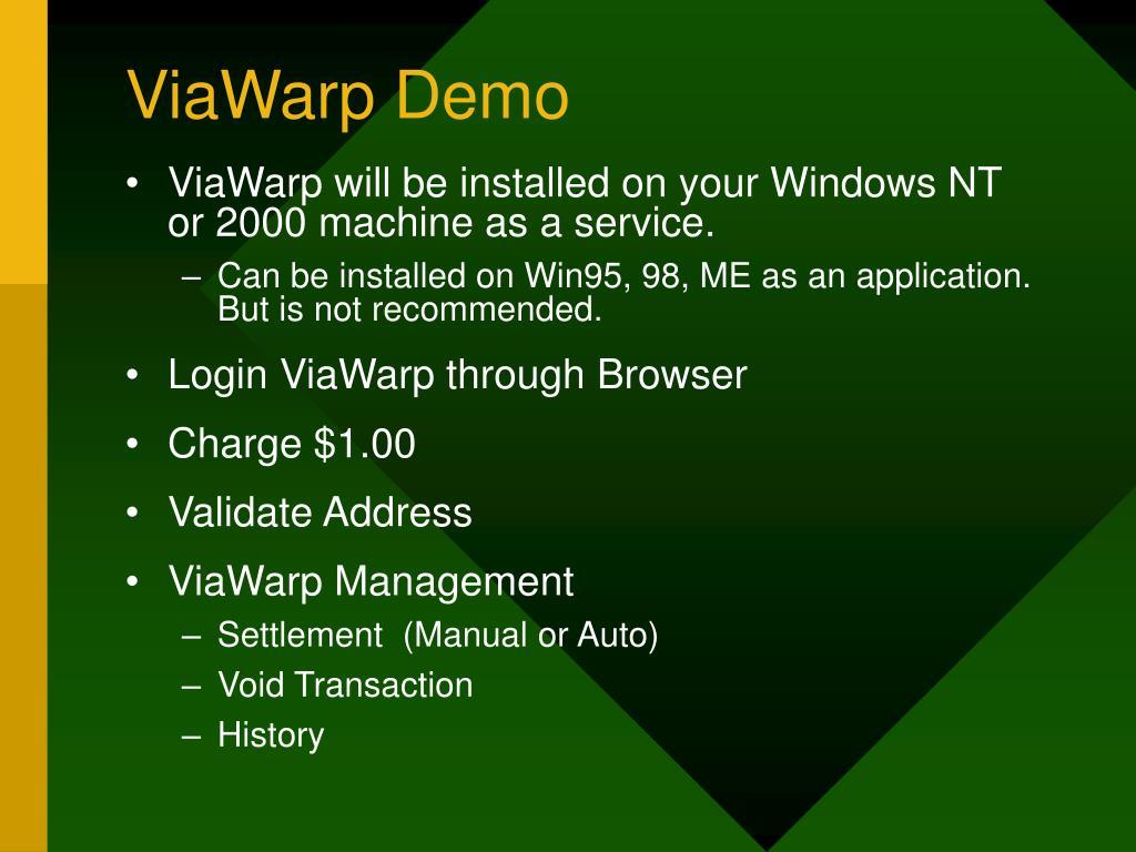 ViaWarp Demo