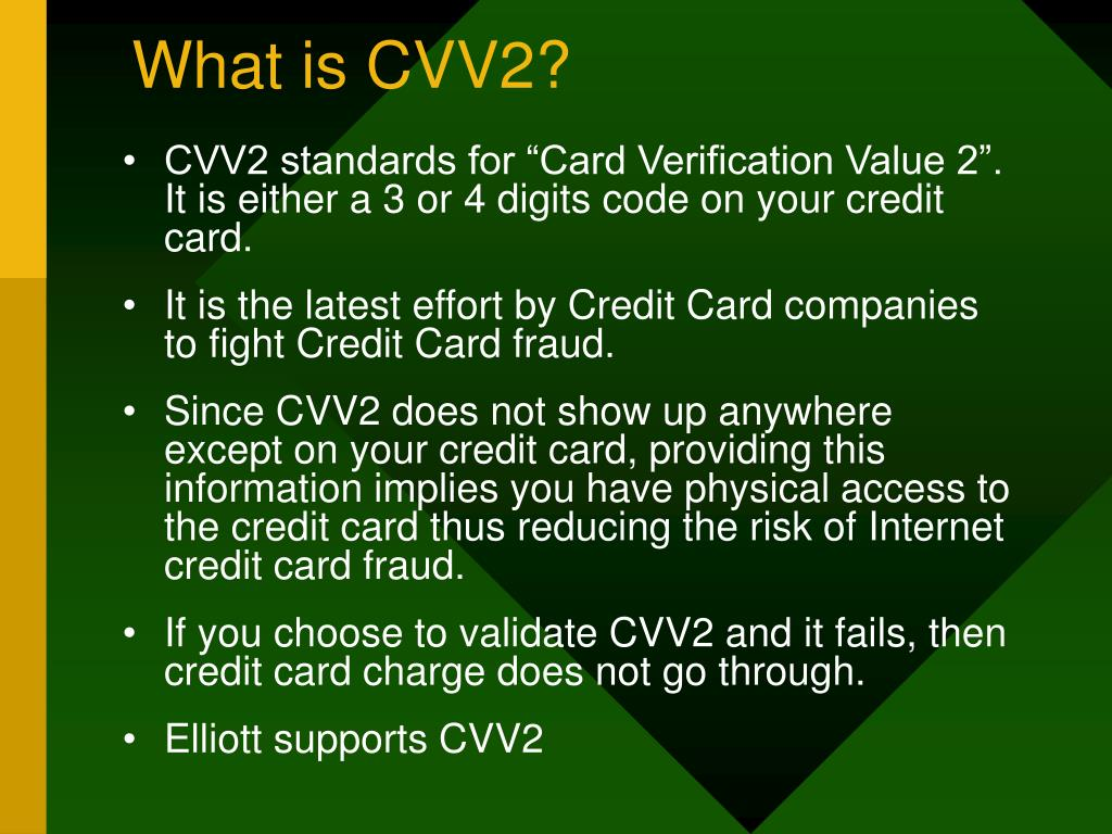 What is CVV2?