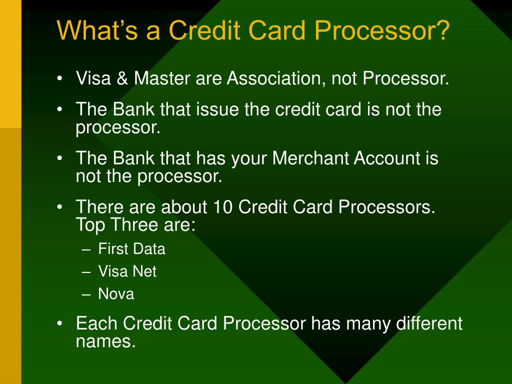 What's a Credit Card Processor?