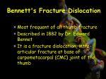bennett s fracture dislocation