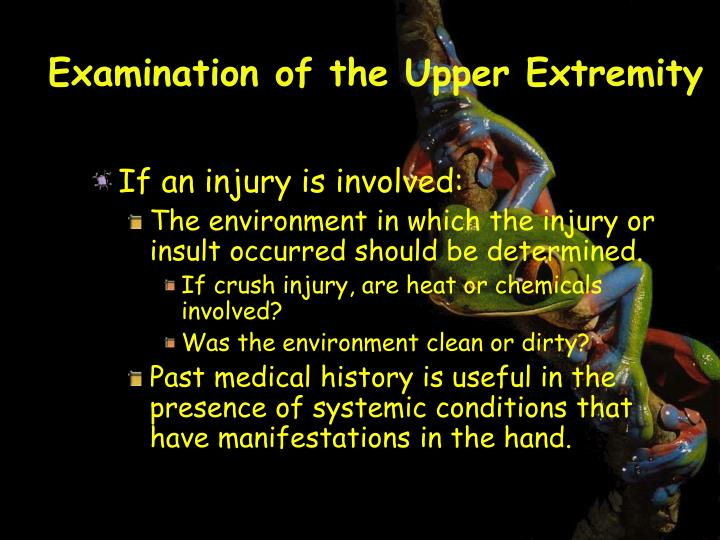 Examination of the Upper Extremity