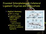 proximal interphalangeal collateral ligament injuries and dislocations1