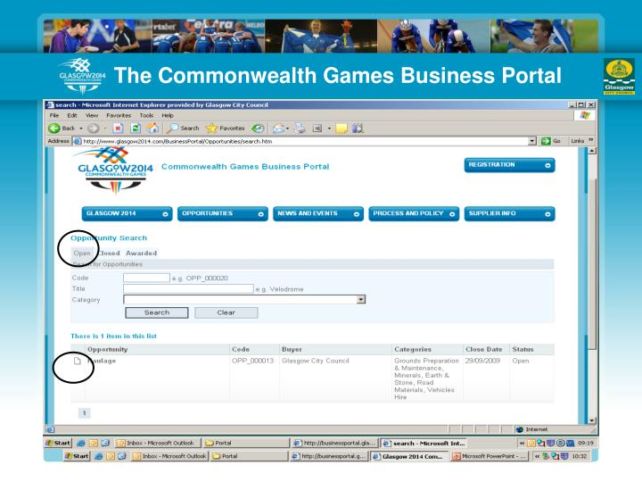 The Commonwealth Games Business Portal