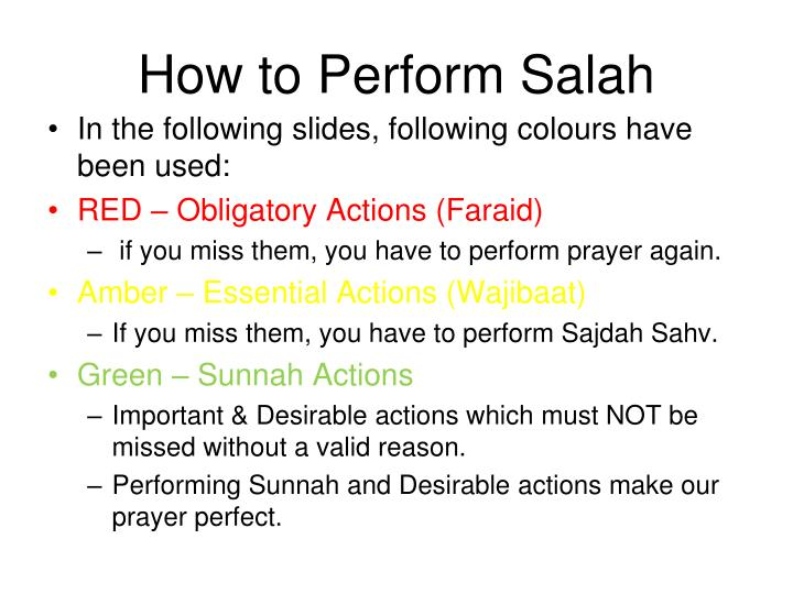 How to perform salah