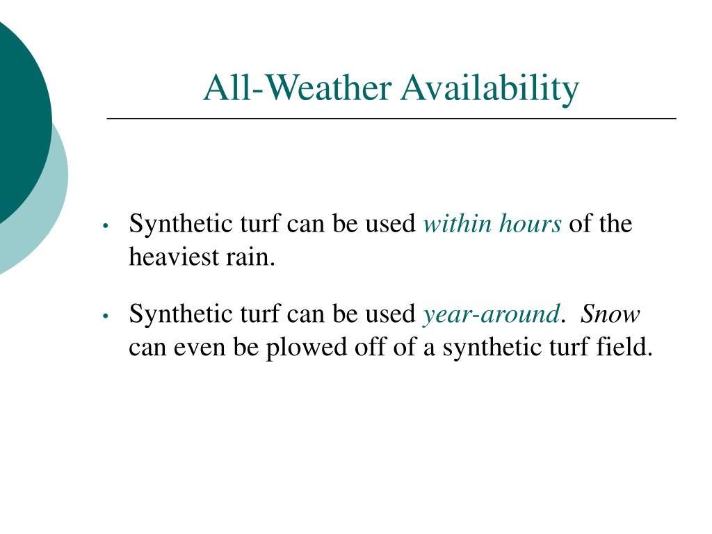 All-Weather Availability