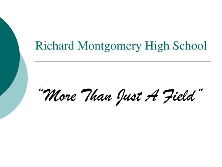 Richard montgomery high school