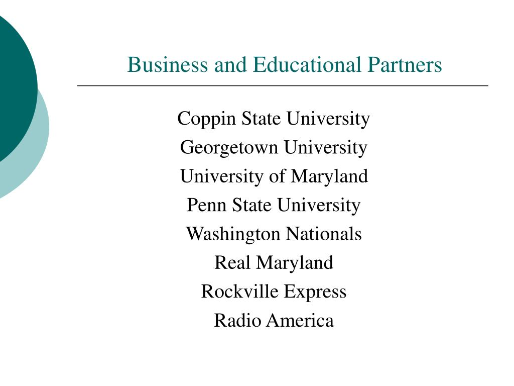 Business and Educational Partners