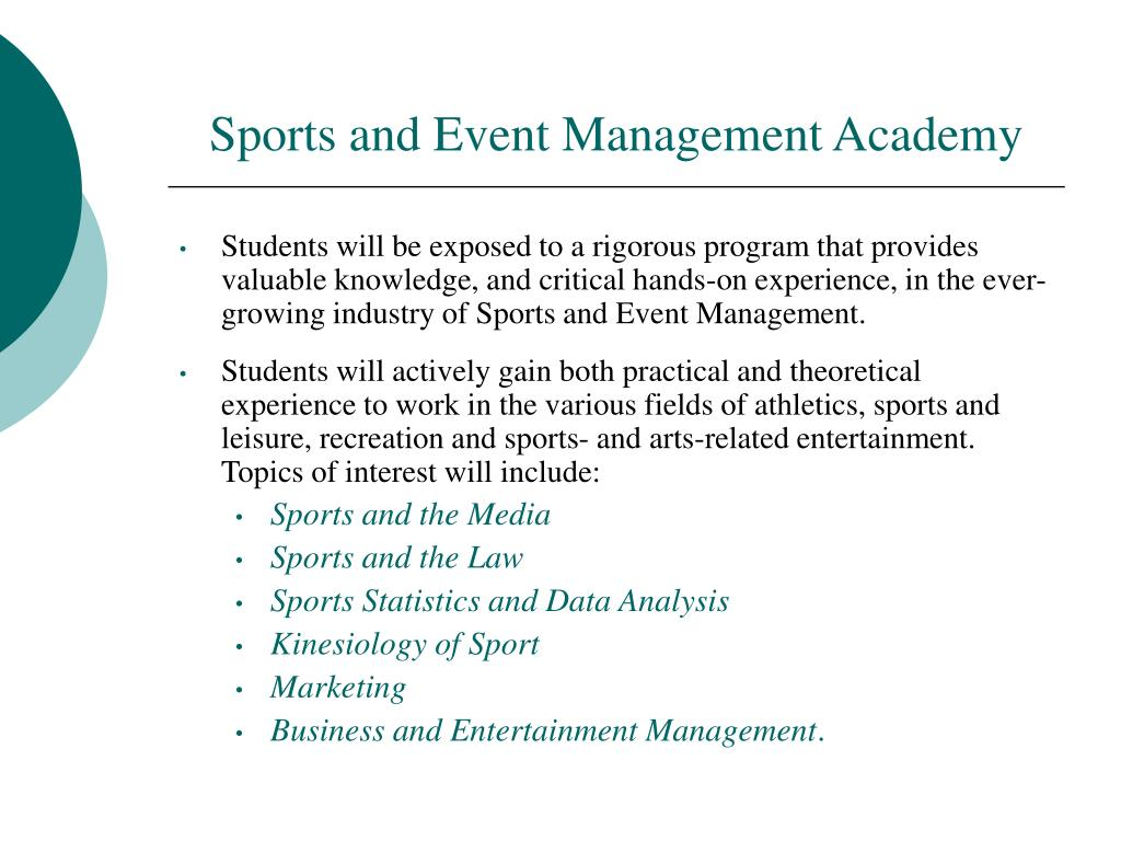Sports and Event Management Academy