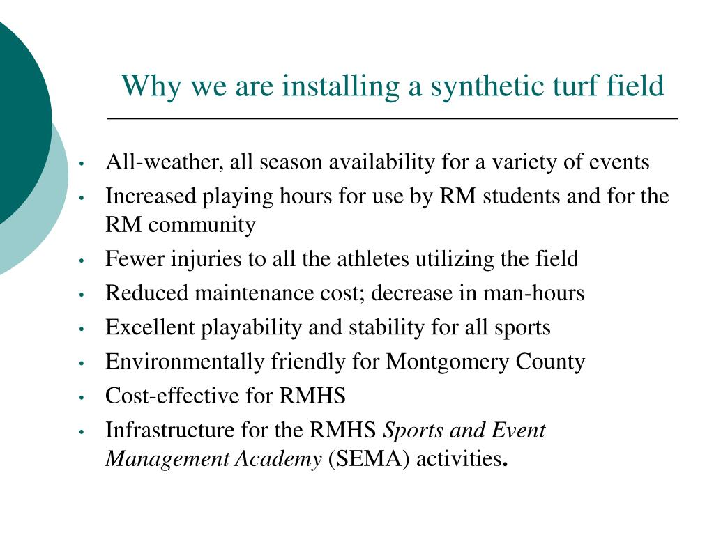 Why we are installing a synthetic turf field