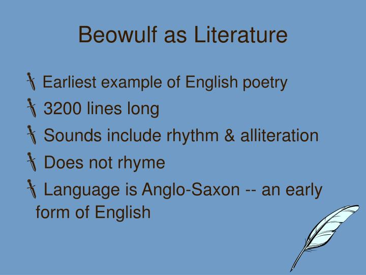 Beowulf as literature