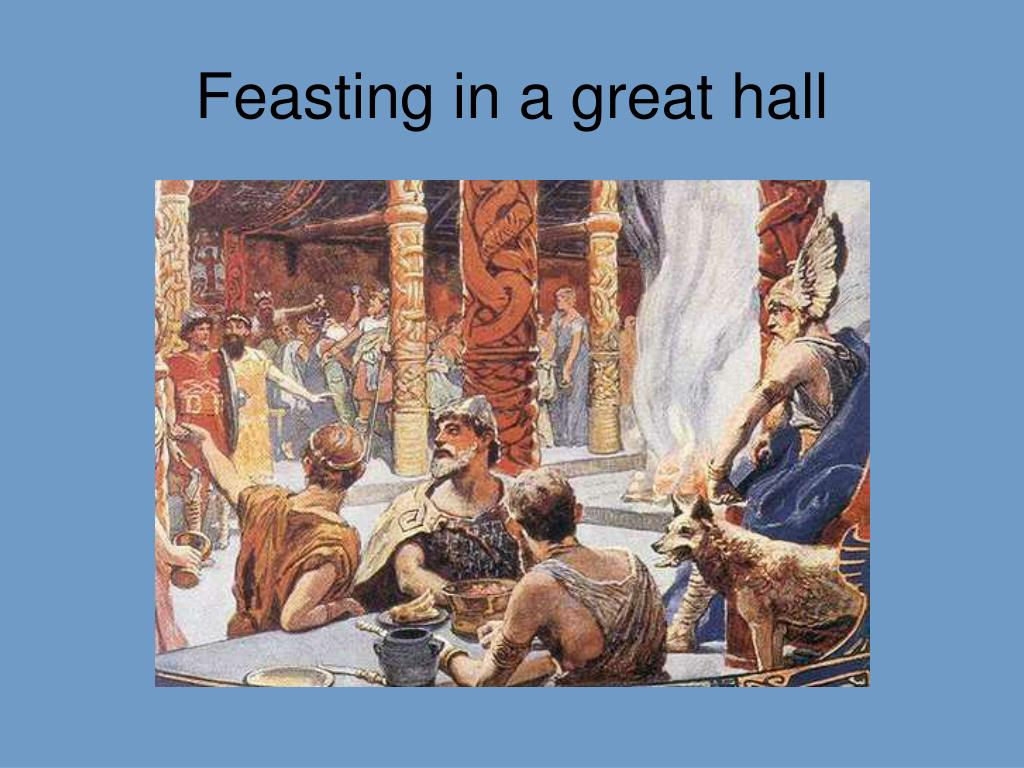 Feasting in a great hall