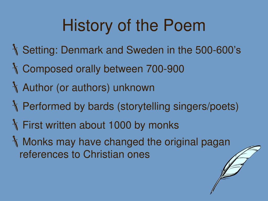 History of the Poem