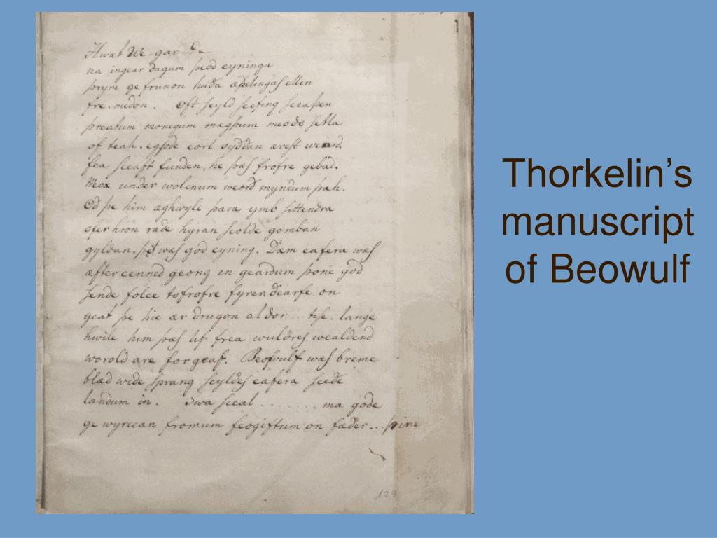 Thorkelin's manuscript of Beowulf
