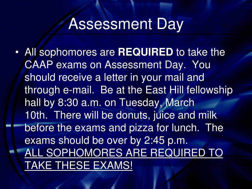 Assessment Day