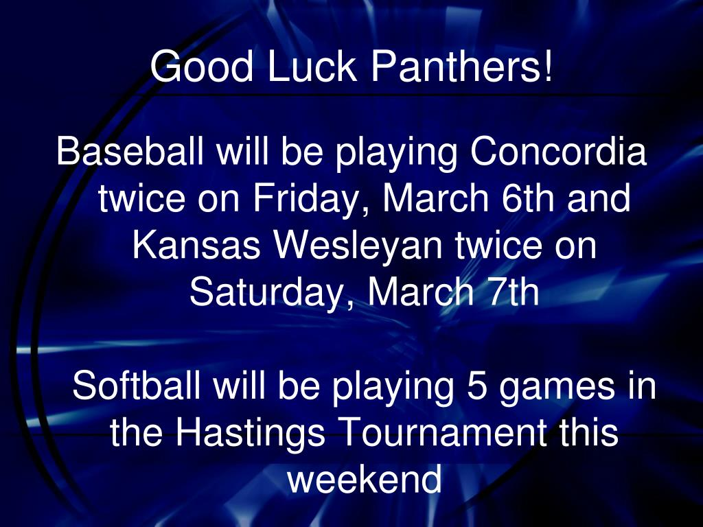 Good Luck Panthers!