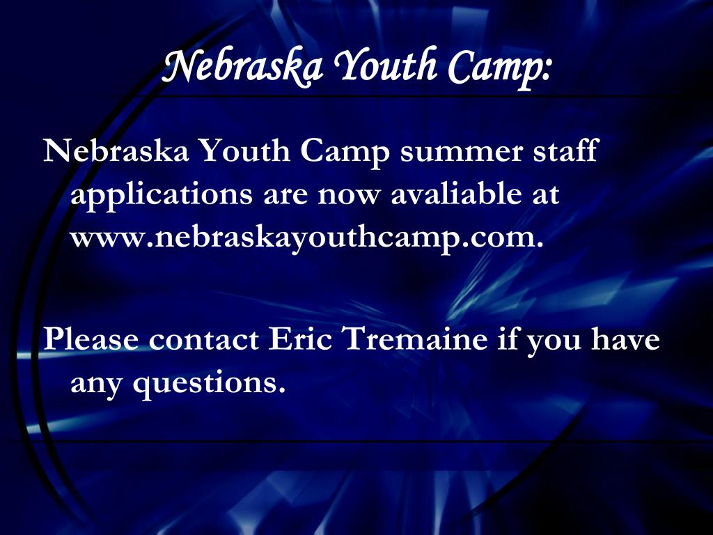 Nebraska Youth Camp: