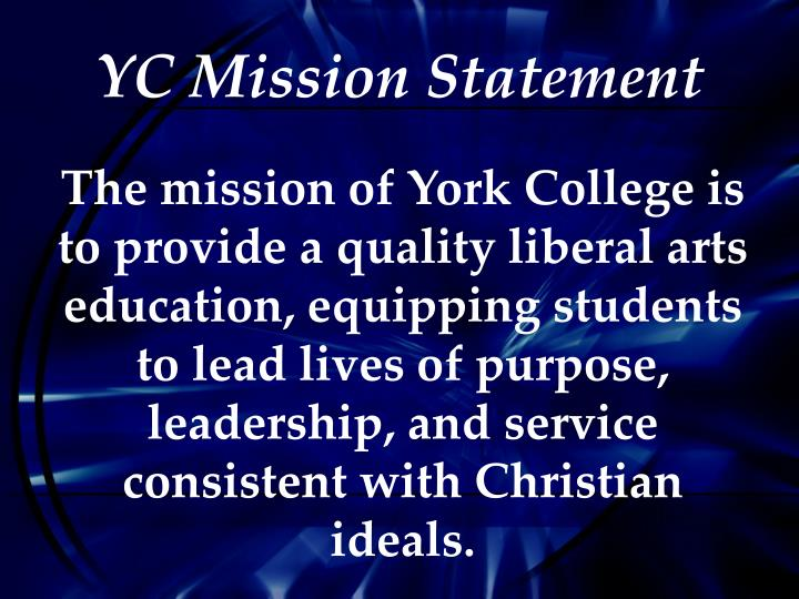 YC Mission Statement