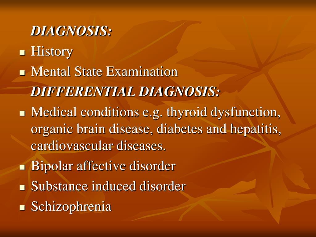 DIAGNOSIS: