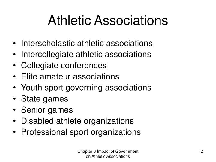 Athletic associations l.jpg