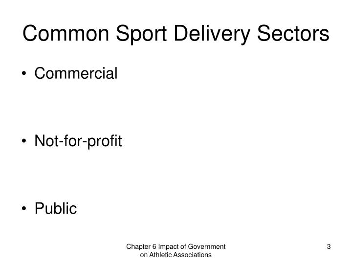 Common sport delivery sectors