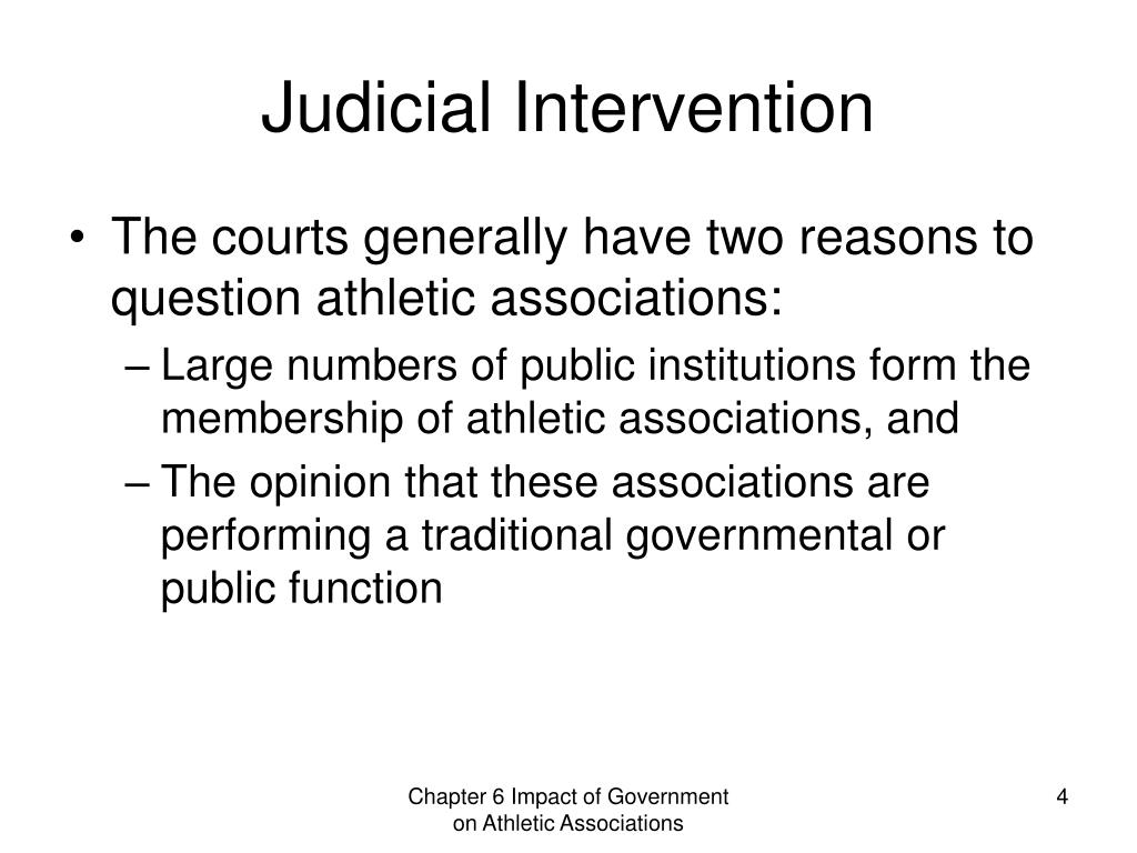 Judicial Intervention