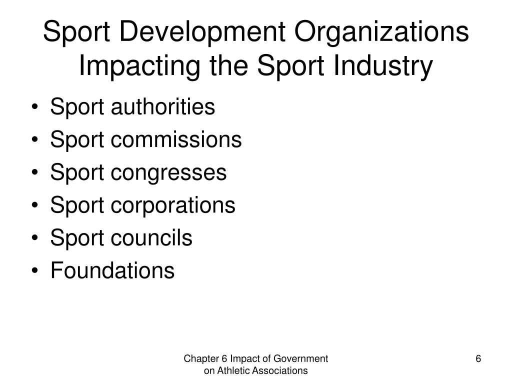 Sport Development Organizations