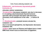 cntin factors affecting metabolic rate