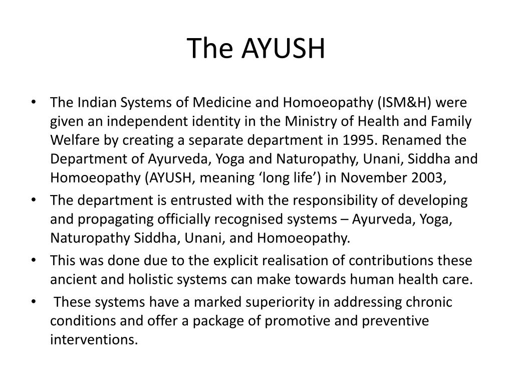 The AYUSH