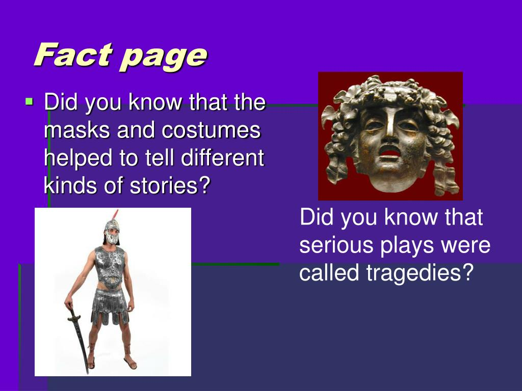 Fact page
