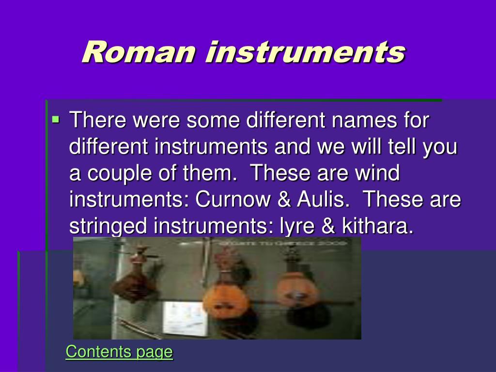 Roman instruments