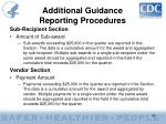 additional guidance reporting procedures42