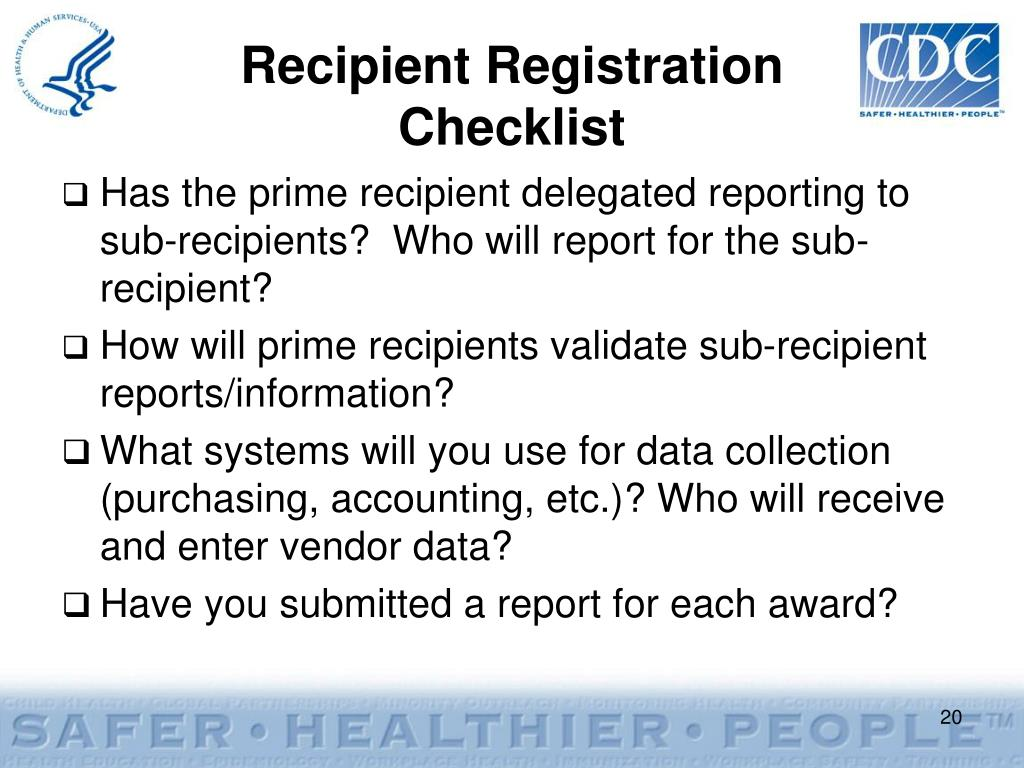 Recipient Registration