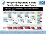 recipient reporting data quality review key dates