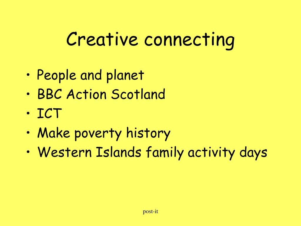 Creative connecting