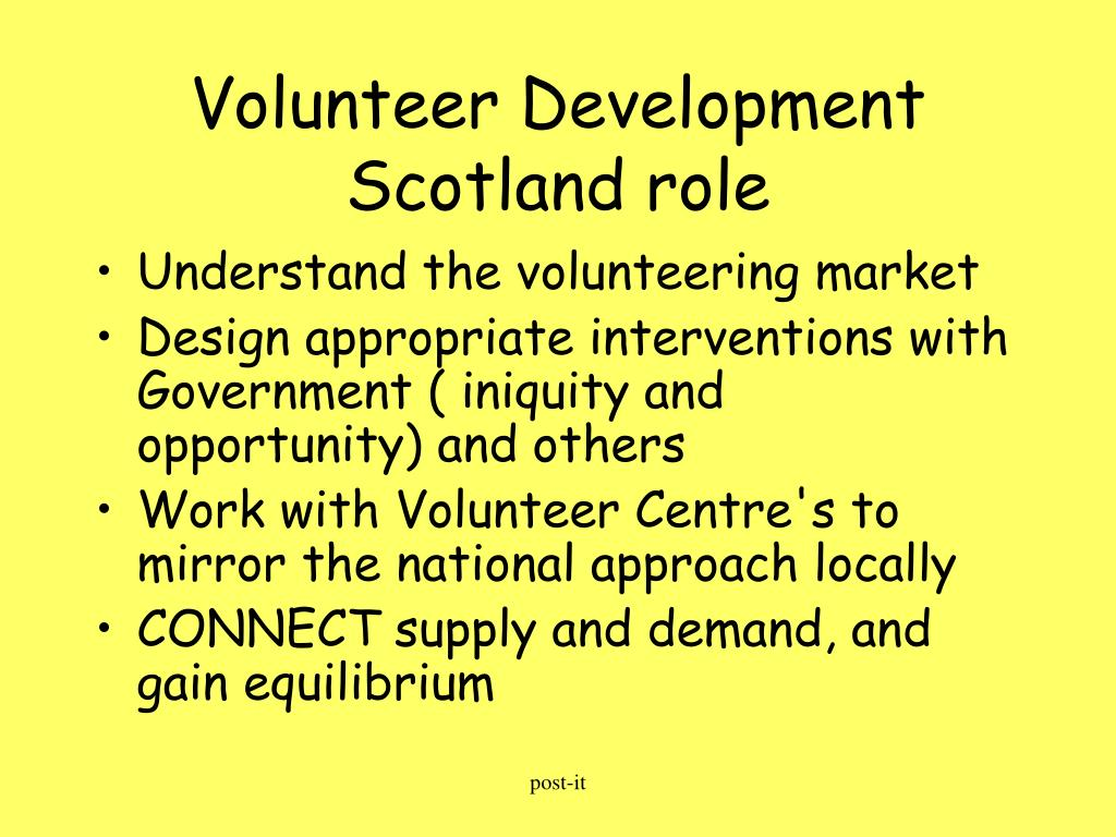 Volunteer Development Scotland role