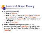 basics of game theory
