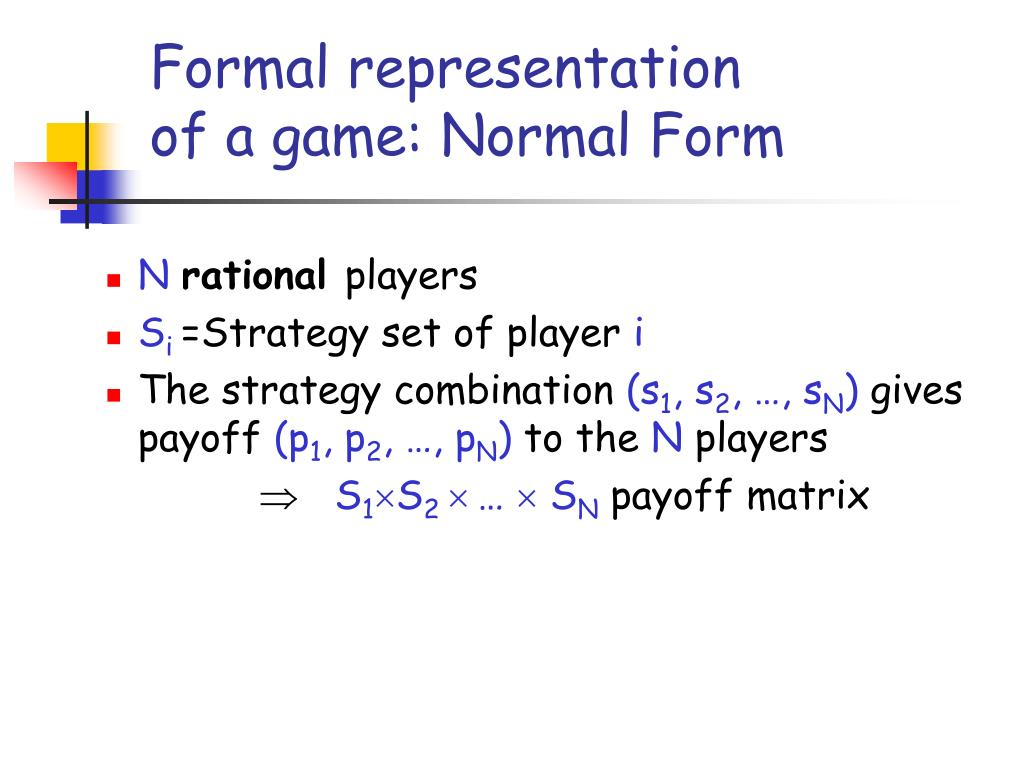 Formal representation