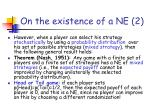 on the existence of a ne 2